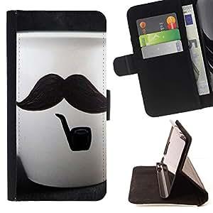 Momo Phone Case / Flip Funda de Cuero Case Cover - Copa lindo del bigote - Samsung Galaxy Note 3 III