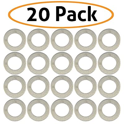 20-Pack of Motorcycle Drain Plug Sealing Washers/Crush Gaskets - Compatible with DPWM14.223-10 - Compatible with Most Models From Yamaha, Triumph, Suzuki, Honda and More - By Mission Automotive: Automotive