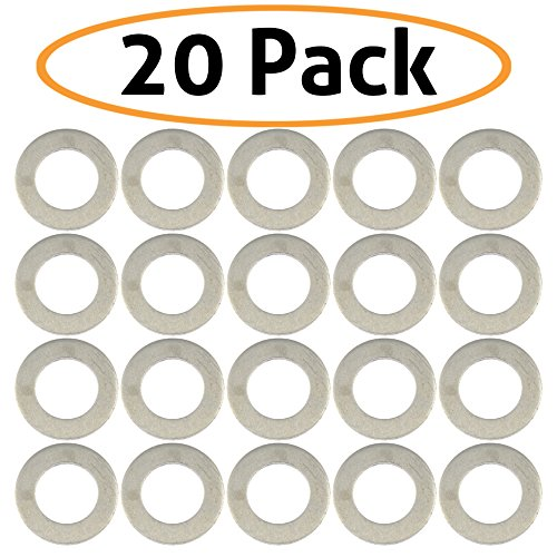 20-Pack of Motorcycle Drain Plug Sealing Washers/Crush Gaskets - Compatible with DPWM14.223-10 - Compatible with Most Models From Yamaha, Triumph, Suzuki, Honda and More - By Mission Automotive
