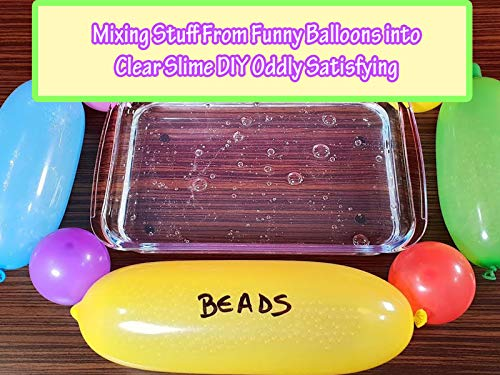 Creative Mix - Clip: Mixing Stuff From Funny Balloons into Clear Slime DIY Oddly Satisfying