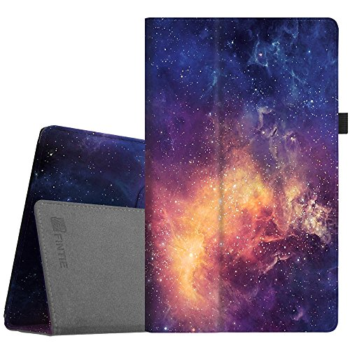 Fintie Folio Case for All-New Amazon Fire HD 10 Tablet (7th Generation, 2017 Release) - Premium PU Leather Slim Fit Smart Stand Cover with Auto Wake/Sleep for Fire HD 10.1 Tablet, Galaxy