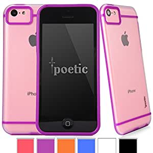 Poetic Atmosphere Case for Apple iPhone 5C Clear/Purple (3 Year Manufacturer Warranty From Poetic)