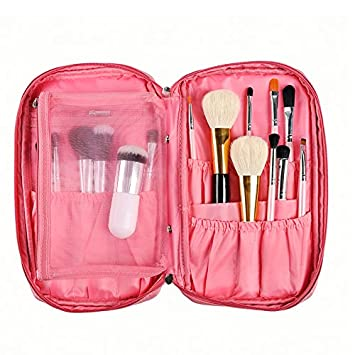 857eae42c4fd Amazon.com   LOUISE MAELYS Multifunctional Makeup Brush Holder Organizer  Bag Cosmetic Bag Case with Inner Mesh Bag for Travel (only Bag)   Beauty