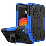 LG X Power Case, LG K6P Case, VL [KickStand Case] [Anti-Resistant] Hybrid Heavy Duty Dual Layer Armor Full-Body Protective Case Cover with Kickstand for LG X Power K6P (Blue)