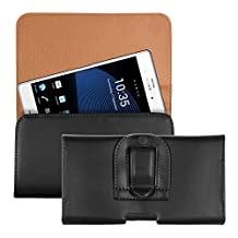kwmobile bum bag case for Sony Xperia Z3 / Z4 / Z5 / Z5 Premium with belt clip - imitation leather belt case with belt loop in black