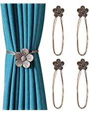 4 Pack Magnetic Curtain Tiebacks, Resin Tie Backs Holdback for Window Drapery, Window Tie Backs Holders for Home Kitchen Office Café, Decorative Window Curtain Holdbacks for Drapes