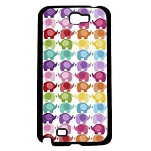 Adorable Colorful Baby Elephants Pattern Hard Snap on Phone Case (Note 2 II)