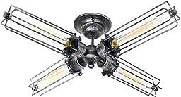 HIGHLIGHT 4 light vintage industrial Edison ceiling lamp light