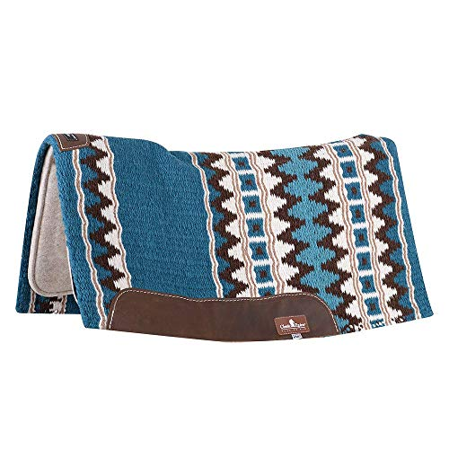 Blanket Saddle Contour - CLASSIC ESP Contour Wool 32x34x3/4in Pad Teal