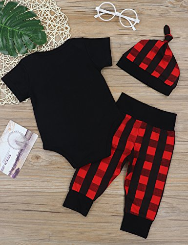 a34e79532fe Baby Boys Girls Clothes Daddy s Little Man Print Bodysuit Outfits Clothes  Set with Hat (0