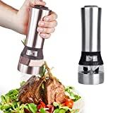 Salt Pepper Grinder - 2 In 1 Stainless Steel Portable Electric Seasoning Grinding Salt Pepper Grinder Acrylic Muller Mill - Oddex Guluman Operated Tall Battery Tray Knob Mason Mccormick Peugeot