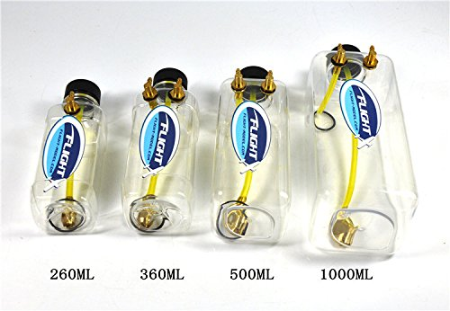 Zyhobby New Flight Model RC Transparent Plastic Fuel Tank For RC Airplane 360ML - Gas Rc Tank
