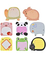 Doryum Sticky Notes, 8 Pads Cute Animals Sticky Notes, Novelty Super Sticky Notes for School, Office Memo, Party Bags Filler, Pupils Children Gifts