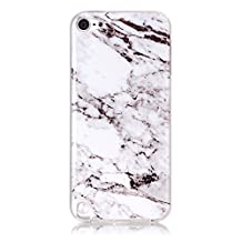 iPod 5 / iPod 6 White Marble Case,IVY [Marble] iTouch 5th 6th TPU Case Cover for iPod Touch 5 / iPod Touch 6 Phone