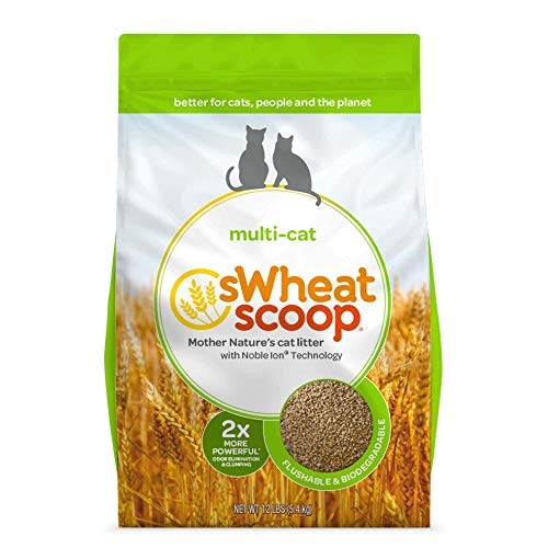 Image of sWheat Scoop Multi Cat Litter Clumps, 12 lb