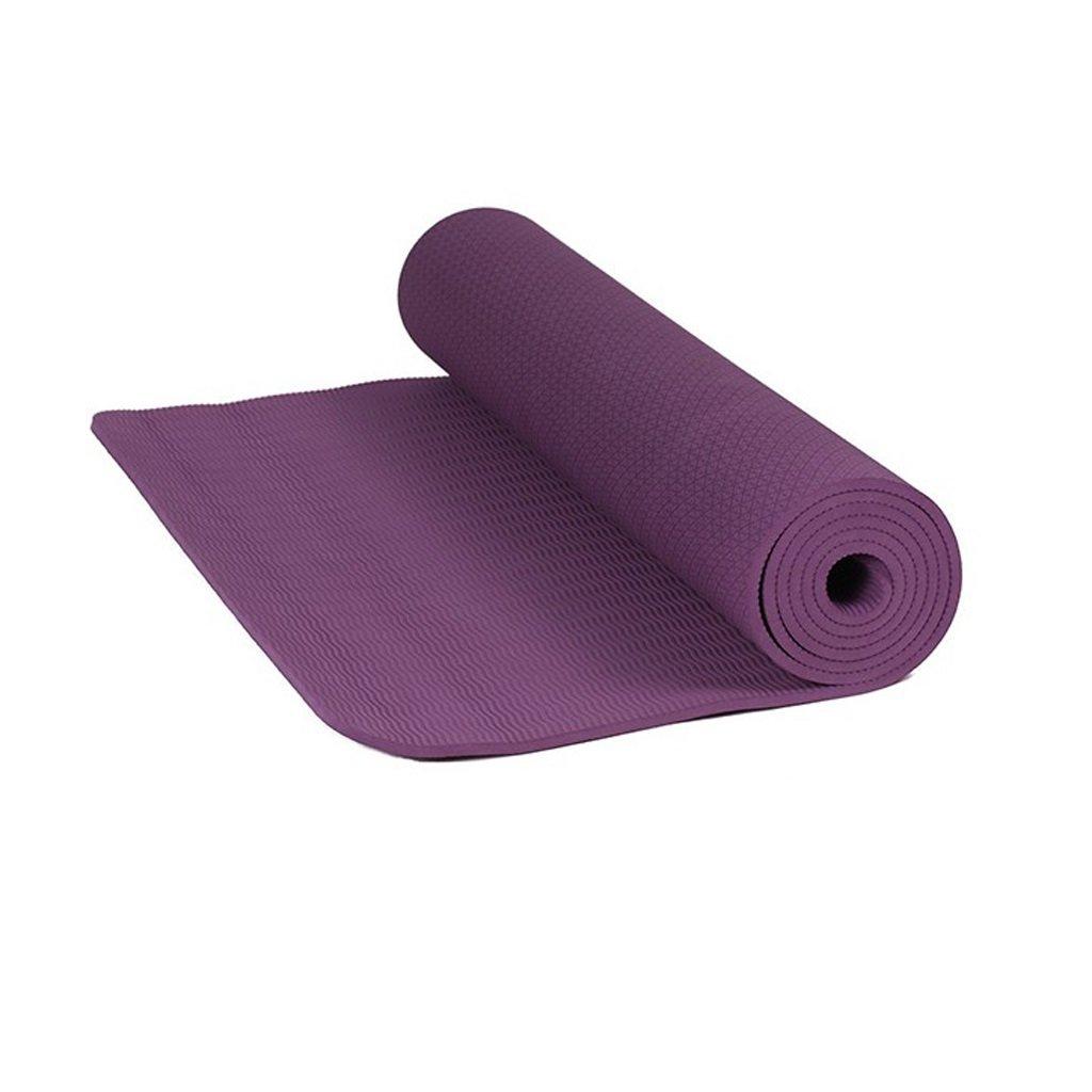 AILI Fitness-Yoga-Matte, Rutschfeste Monochrome warme weiche 10mm Schwarze Gymnastikmatte, Pilates