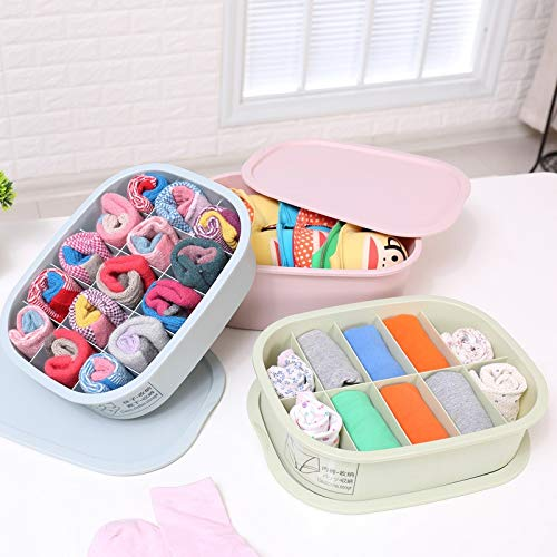 VietRattan Storage Boxes & Bins - Underwear Storage Box Bra Organizer Socks Bra Storage Box Plastic Container Organizer Storage Bin Europe Clothing Organizer 1 PCs