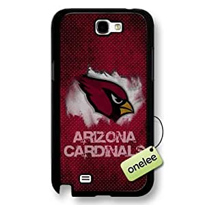 NFL Arizona Cardinals Team Logo Samsung Galaxy Note 2 Black Hard Plastic Case Cover - Black Kimberly Kurzendoerfer