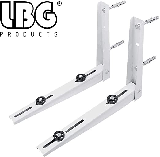 Rust Free Aluminium Alloy Support Brackets Wall Mounting Bracket for 9000-36000 Btu Condenser Ductless Mini Split Air Conditioner Heat Pump Systems