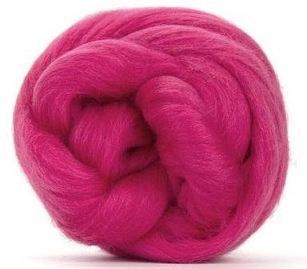 Blending and Weaving 4 oz Paradise Fibers 64 Count Dyed Rose Red Merino Top Spinning Fiber Luxuriously Soft Wool Top Roving for Spinning with Spindle or Wheel Felting