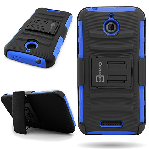 HTC Desire 510 Holster Case (Blue/Black) CoverON Protective Belt Clip Kickstand Phone Cover for HTC Desire 510 (Boost Htc 510 Desire Phone Cases)