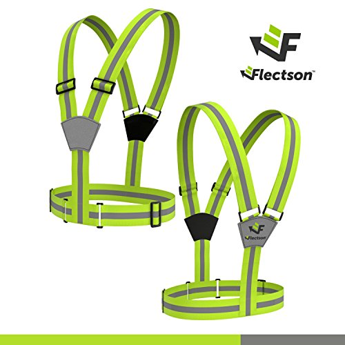 Flectson™ Reflective Vest/Belt Provides 360 Degree High Visibility for your Safety Outdoors: Running, Motorcycle, Biking, Jogging etc.