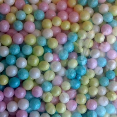 (Sugar Pearls 3-4 mm Pearlized Multi, 16 Oz.)