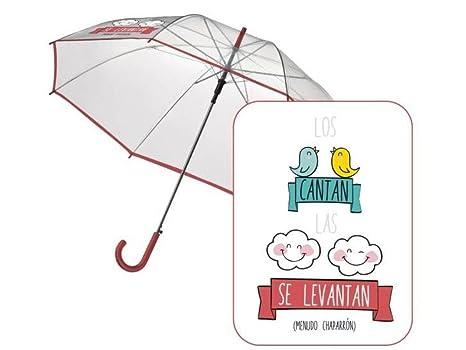"Paraguas automatico transparente ""Los pajaritos"" ..."