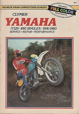 Used, 1976-1983 CLYMER YAMAHA MOTORCYCLE IT125-490 SINGLES for sale  Delivered anywhere in USA