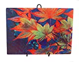Glass Cutting Board Japanese Maple Leaves 15.25'' x 11.25''