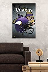 "Trends International Minnesota Vikings Helmet Wall Poster 22.375"" X 34"""