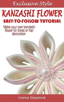 pointed kanzashi flower tutorial