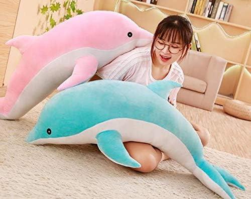 [ダーセン]ぬいぐるみ イルカ 抱き枕 ふわふわ ぬいぐるみ 抱き枕 ふわふわ 癒やし かわいい お誕生日 クリスマス 記念日 プレゼント 柔らかい クッション 置物 お祝い お祝い クリスマス贈り物 (ピンク,100cm)