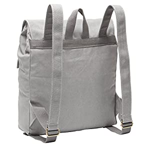 Hynes Eagle Urban Traveler Canvas Backpack Fits 15.6 inch Laptop Light Gray