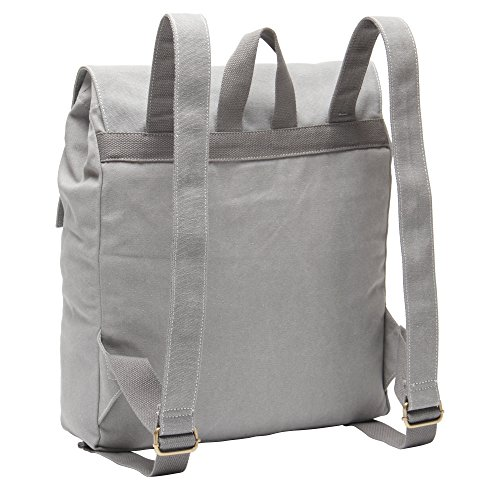 Hynes Eagle Urban Traveler Canvas Backpack Fits 15.6 inch Laptop Light Gray by Hynes Eagle (Image #2)
