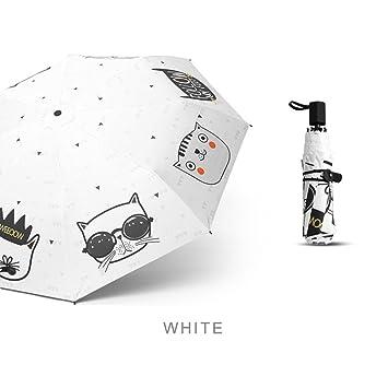 JYKJ® Mini paraguas de viaje – Paraguas ultravioleta con dibujos animados plegable compacto paraguas de
