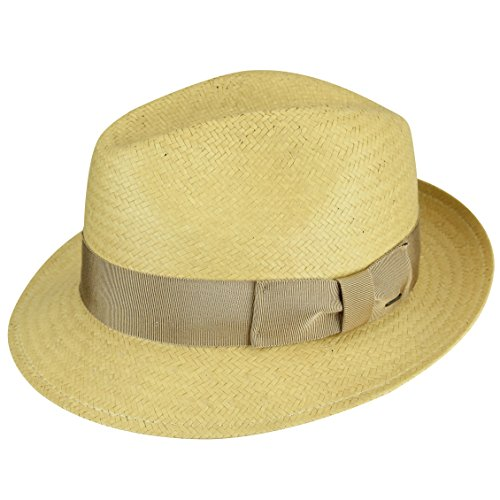 Bailey of Hollywood Men's Lando Fedora Trilby Hat, Biscotti, S ()