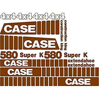 Amazon com: Complete Decal Set for Case 580 Super K Extended
