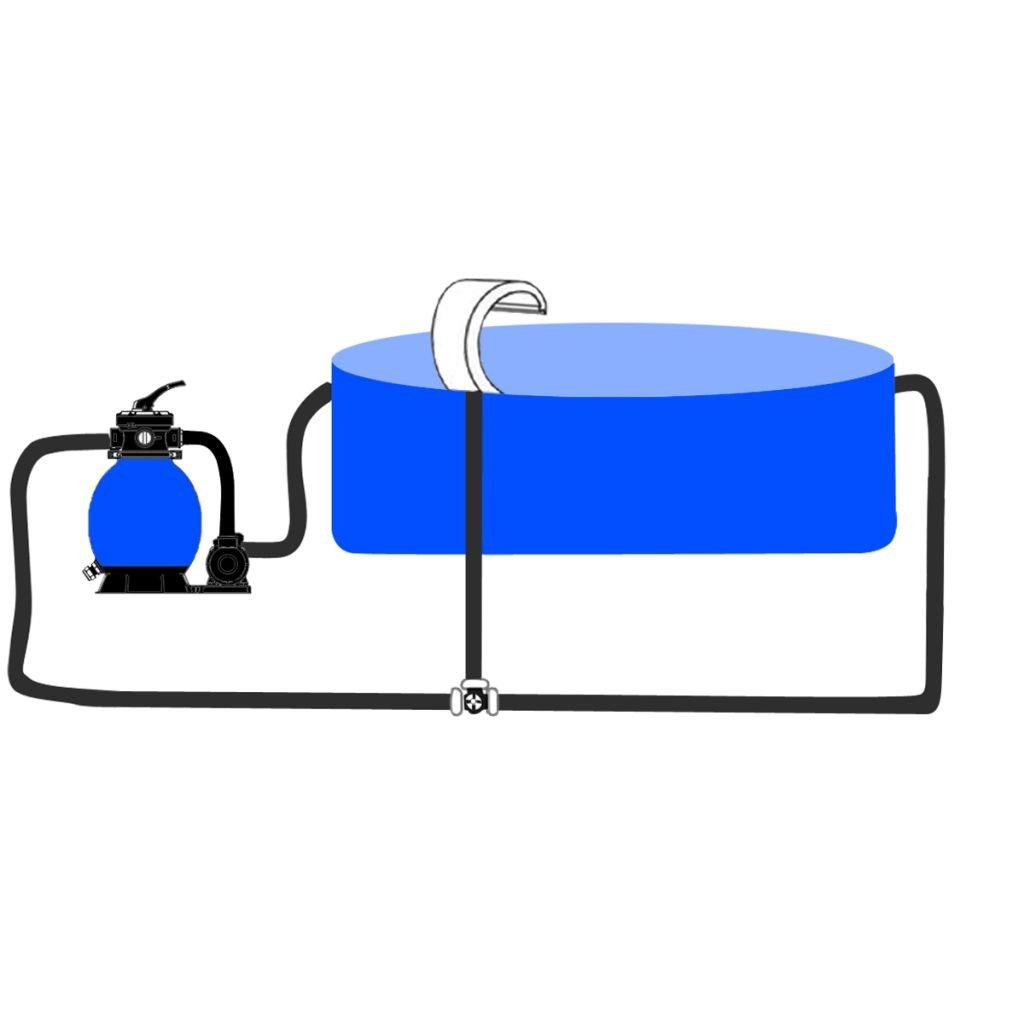 vidaXL Stainless Steel Pool Accent Fountain Sheer Descent Pond Garden Waterfall Feature