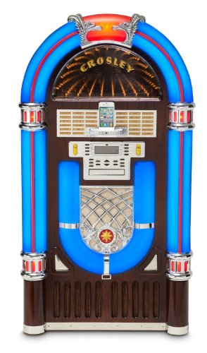 Jukebox Ipod - Crosley CR12-2i iJuke Deluxe Jukebox with Universal iPod Dock, CD Player, and 64-Track Memory (Discontinued by Manufacturer)