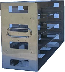 "Stainless Steel Frame Type Freezer Rack Holding 16 - 2"" Cryostorage Boxes - Fit Most Standard Upright Freezers"