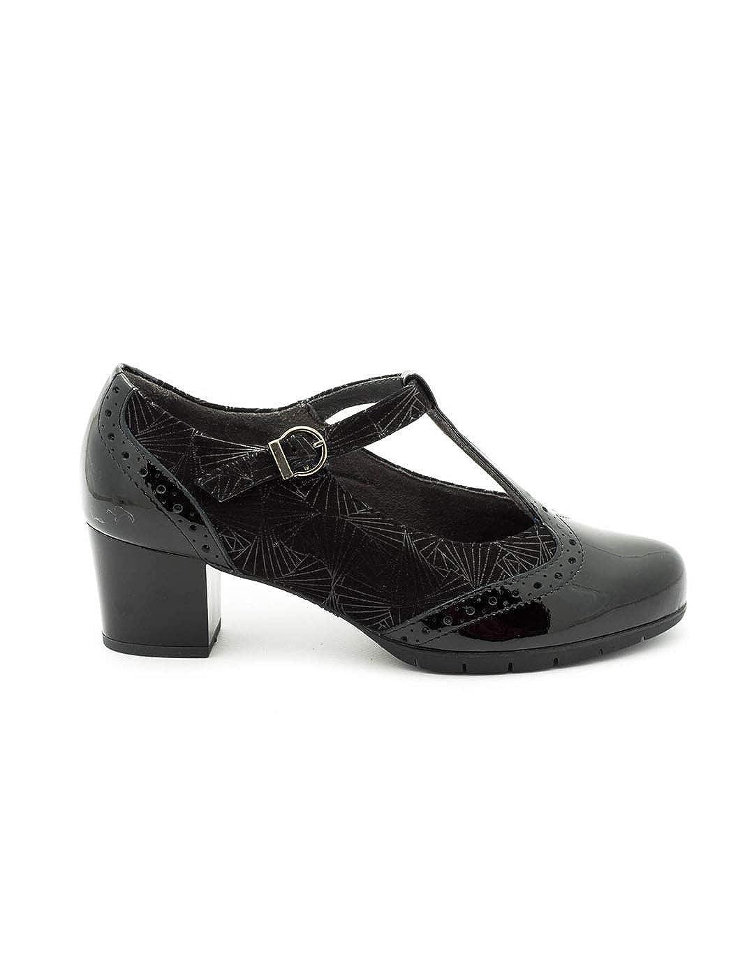 TALLA 41 EU. Zapato Pitillos De Piel Negro 5270