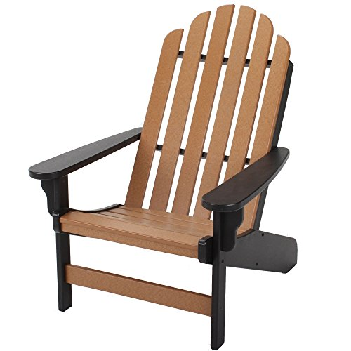 Original Pawleys Island DWAC1BLKCD Durawood Essentials Adirondack Chair, Black/Cedar For Sale