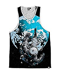 INTO THE AM The Lost Astronaut Premium Men's All Over Print Tank Top (Small)