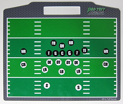 Pro-Tuff Decals Coaches Helper Magnetic Football Board for Plays and Field Position Football Magnet Board Football Play Board ()