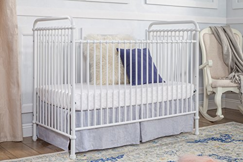Million Dollar Baby Classic Abigail 3-in-1 Convertible Iron Crib,  Washed White by Million Dollar Baby Classic (Image #1)