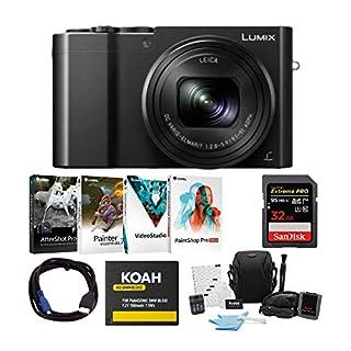 Panasonic LUMIX ZS100 Digital Camera (Black) with 32GB SD Card and Accessory Bundle (6 Items)