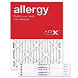 AIRx Filters Allergy 16.5x21.5x1 Air Filter MERV 11 AC Furnace Pleated Air Filter Replacement Box of 6, Made in the USA