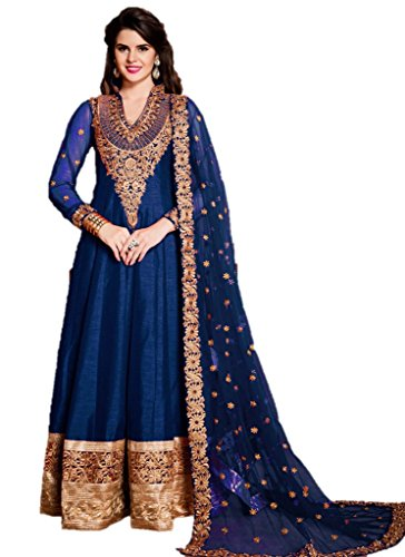 EthnicWear-Silk-Hot-Designer-Best-Seller-Wedding-Sangeet-Wear-Blue-Anarkali-Suit