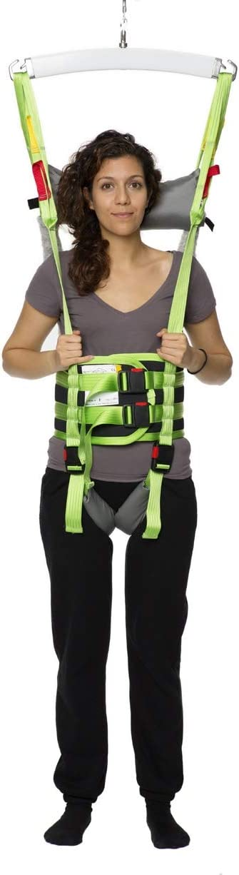 Standing and Walking Assist Hoyer Lift Sling - Can be used with Ceiling Lift for Disabled, Hoyer Lifts for Home Use - Polyester Material - Patient Lift Slings for Gait Training and Rehab (Extra Large)